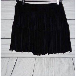 Dresses & Skirts - Suede Fringe Mini Skirt